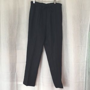 Orvis linen black summer pants drawstring waist MP